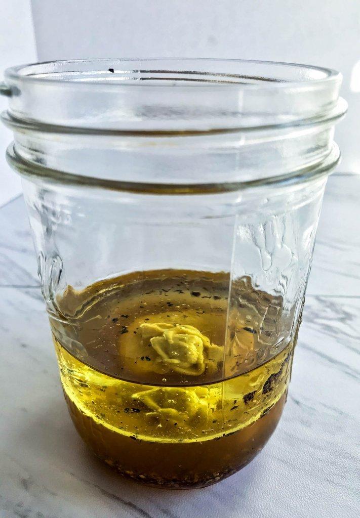 Vinaigrette Ingredients in a jar