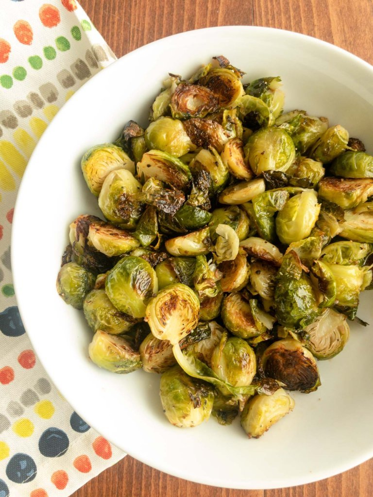 Roasted Brussels Sprouts in a bowl