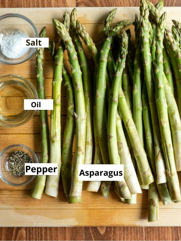 Ingredients: asparagus, oil, salt and pepper
