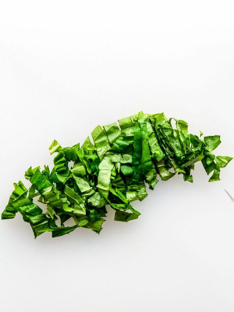 Sliced basil